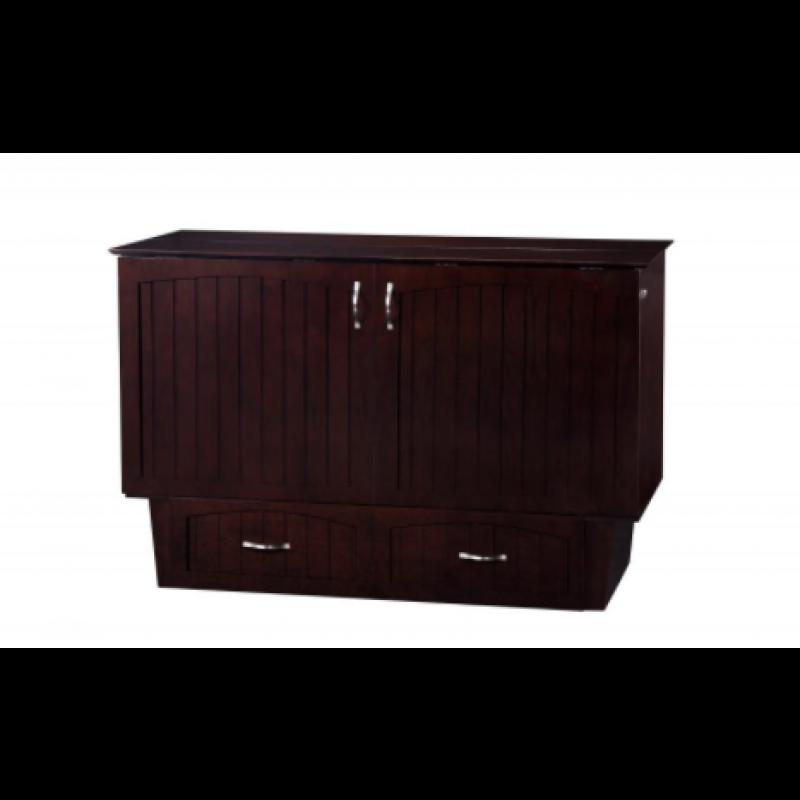 Superior ... Folded Up Atlantic Nantucket Murphy Queen Espresso Cabinet Bed