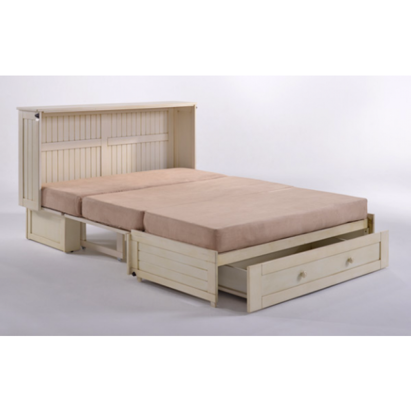 Night And Day Daisy Murphy Queen Cabinet Bed Ercream