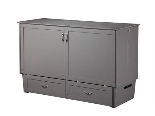 Atlantic Madison Murphy Queen Gray Cabinet Bed Cabinet