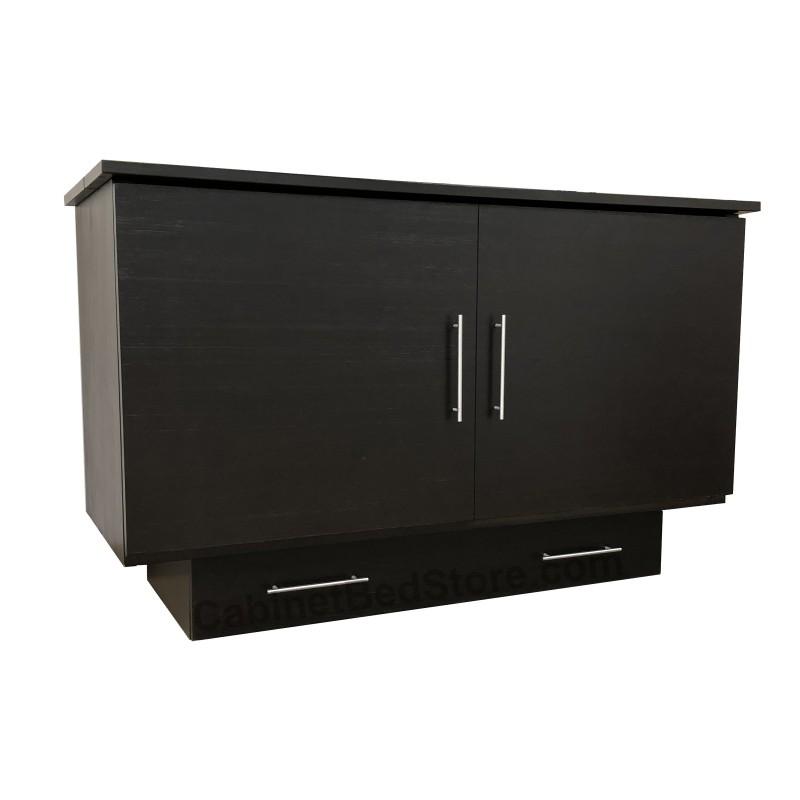 Folded up Arason Original Creden-ZzZ Queen Coffee Murphy Cabinet Bed