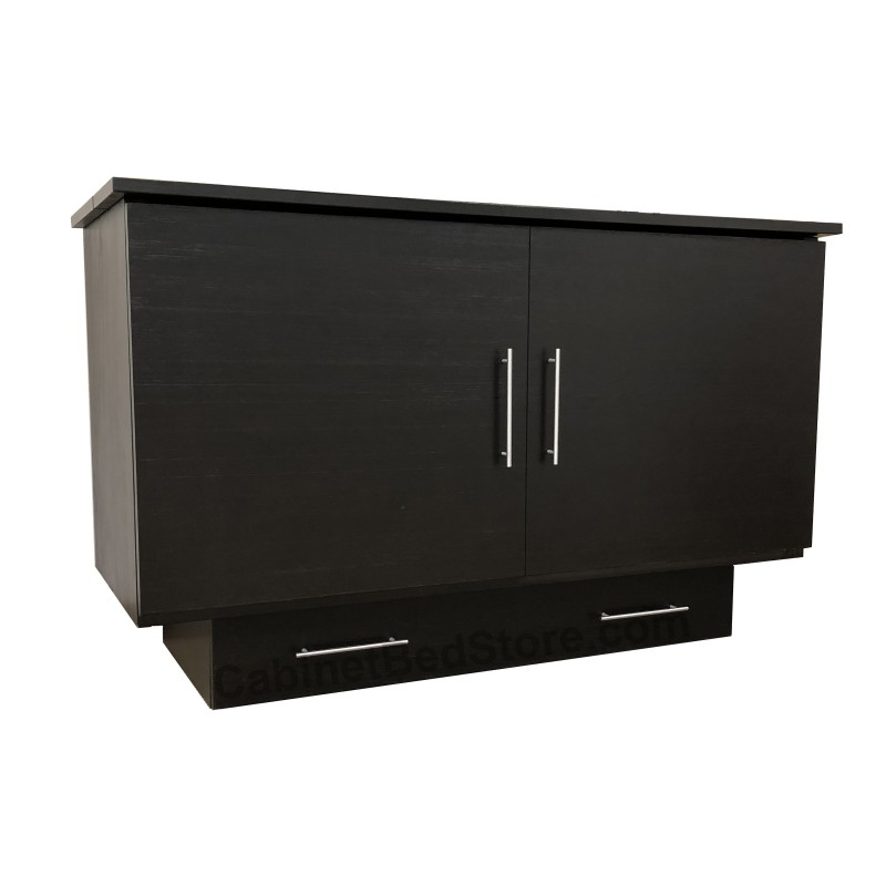 Folded Up Arason Original Creden-ZzZ Full Espresso Murphy Cabinet Bed
