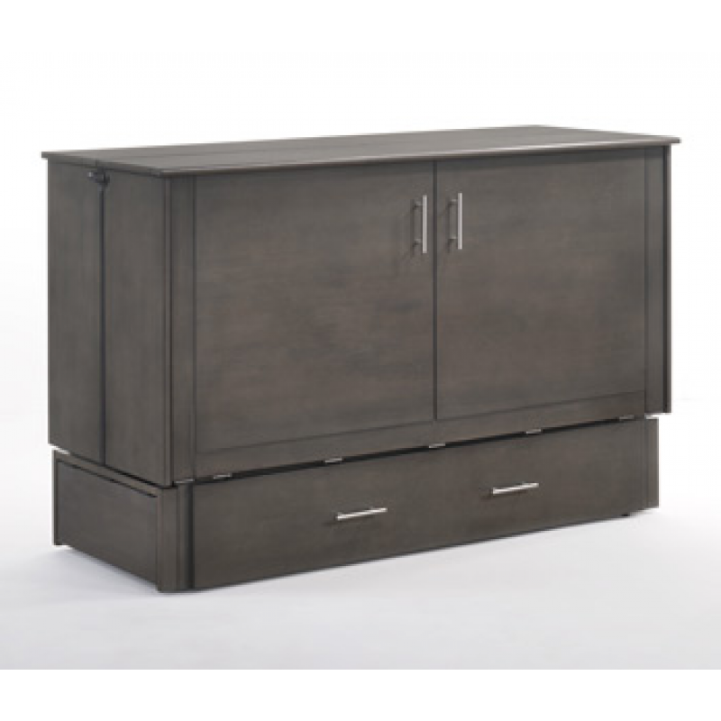 Folded Up Night and Day Sagebrush Murphy Queen Stonewash Cabinet Bed