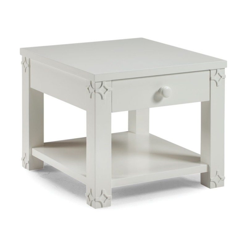 White Brussels Side Table