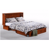 Night and Day Clover Murphy Queen Cherry Cabinet Bed