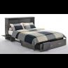 Night and Day Sagebrush Murphy Queen Stonewash Cabinet Bed