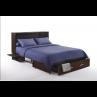 Night and Day Sagebrush Murphy Queen Dark Chocolate Cabinet Bed